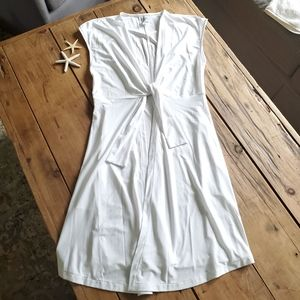 Miraclesuit tie waist white coverup Large